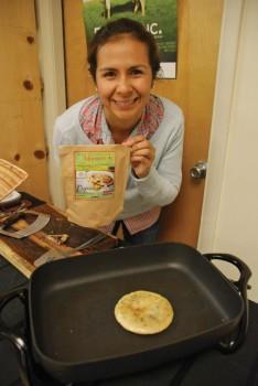 Her griddle cakes taste of authentic El Savador