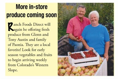 More in-store produce coming soon!