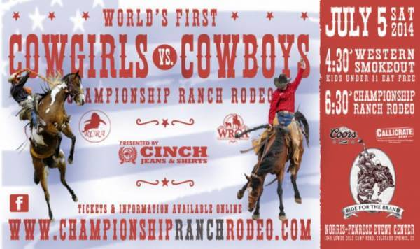 World's First Cowgirls vs Cowboys Championship Ranch Rodeo