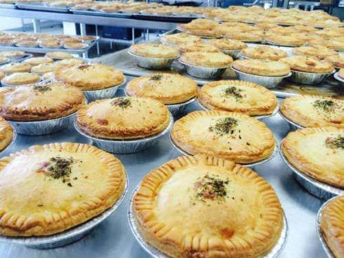 In store exclusive! Savory meat pies from our friends at Mountain Pie Company