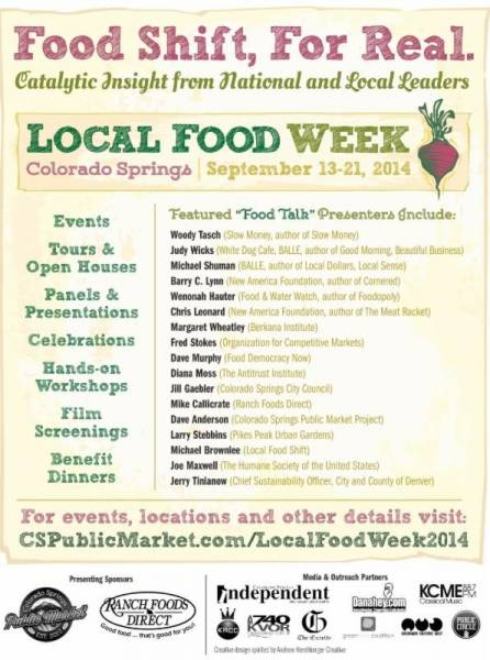 Thanks, Colorado Springs, for supporting Local Food Week!