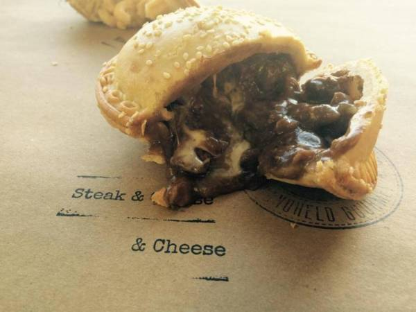 Now in store… the new steak and cheese pie from Mountain Pie Co!