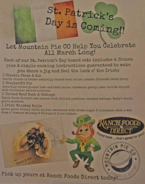 Mountain Pie Co. St. Patrick's Day pie special!