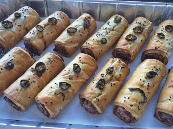 Exciting new arrivals…  Spicy Southwestern Sausage Rolls