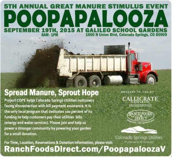 Annual Poopapalooza manure distribution event Sept. 19