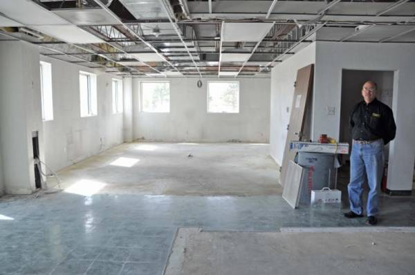 Renovations underway at the new east-side location