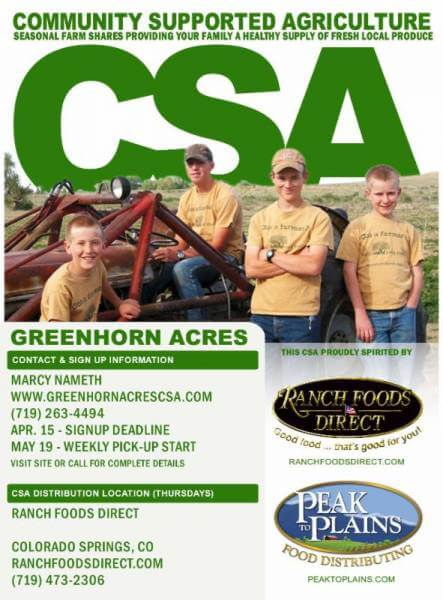 Spring will come… Call today before it's too late to sign up for the Greenhorn Acres CSA!