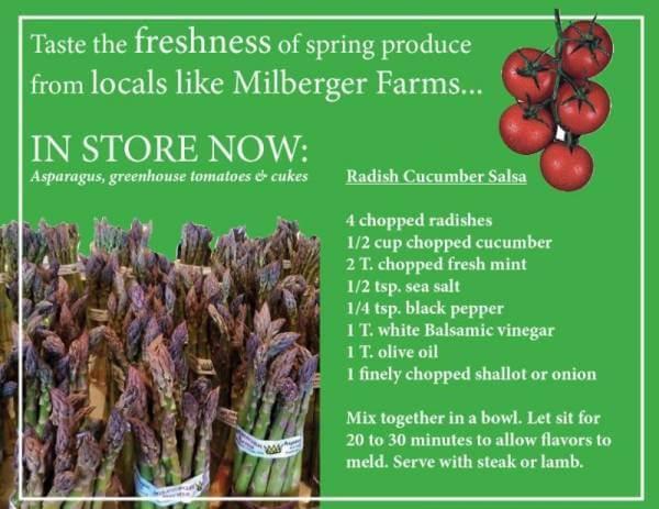 Taste the freshness of spring produce