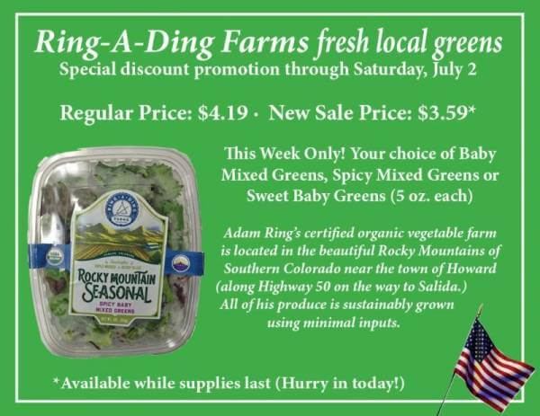 Ring-a-Ding Farms fresh local greens