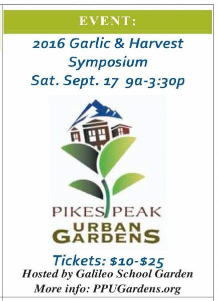 In September… Don't miss the annual Garlic and Harvest Symposium