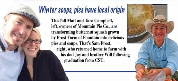 Winter soups, pies have local origin