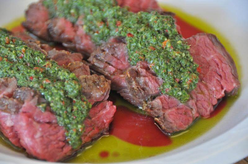 Recipe: Easy 10-minute Chimichurri and Marinated Bavette Steak