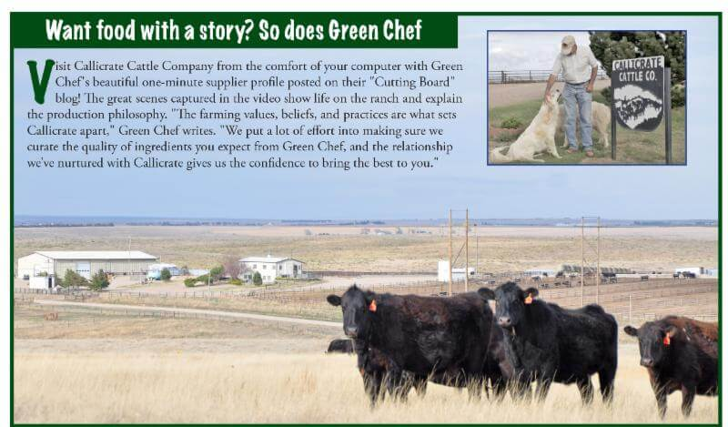 Green Chef is the only meal kit company to feature Callicrate Beef! Here's why they do.